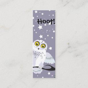 Owl business cards zazzle snowy owl bookmark mini business card colourmoves