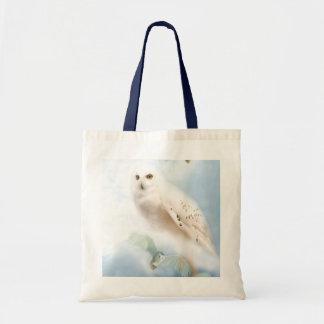 Snowy Owl Budget Tote Bag