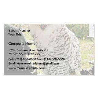 Snowy Owl Business Card Template