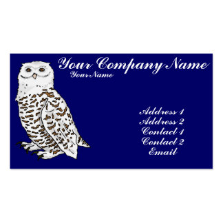 Snowy Owl Business Card Templates