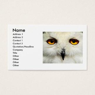 Snowy Owl, Business Card