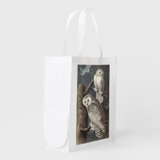 Snowy Owl by Audubon Grocery Bag