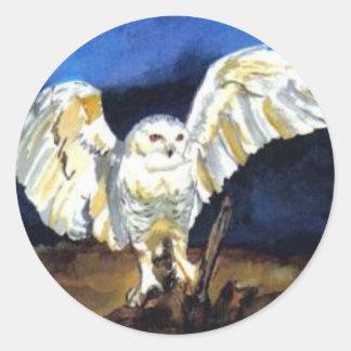 Snowy Owl by Paula Atwell Classic Round Sticker