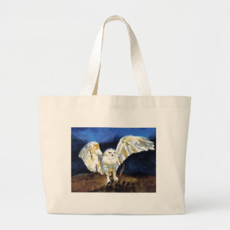 Snowy Owl by Paula Atwell Jumbo Tote Bag