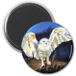 Snowy Owl by Paula Atwell Magnet