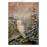 SNOWY OWL by SHARON SHARPE Card