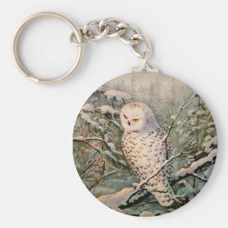 SNOWY OWL by SHARON SHARPE Keychain