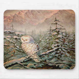 SNOWY OWL by SHARON SHARPE Mouse Mats