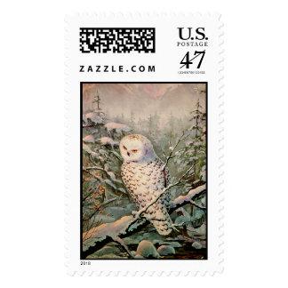 SNOWY OWL by SHARON SHARPE Postage Stamp