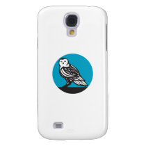 Snowy Owl Circle Retro Galaxy S4 Case