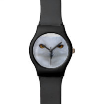 Snowy owl close up wristwatch