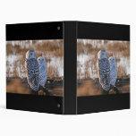 Snowy Owl Couple 3 Ring Binder