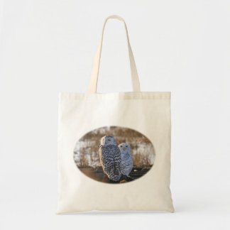 Snowy Owl Couple Budget Tote Bag