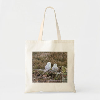 Snowy Owl Couple Tote Bag