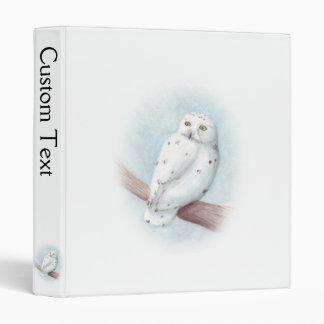 Snowy Owl Customizable Binder