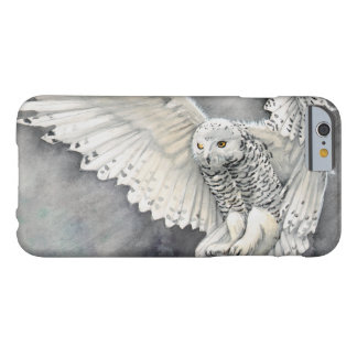 Snowy Owl Descent Wildlife Watercolor Painting Barely There iPhone 6 Case
