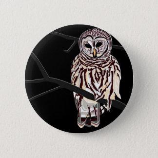 Snowy Owl Design Pinback Button