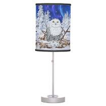 Snowy Owl Desk Lamp