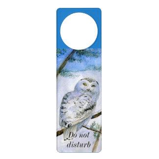 Snowy Owl - do not disturb Door Knob Hanger