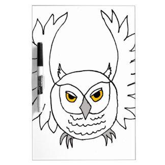 snowy owl Dry-Erase board