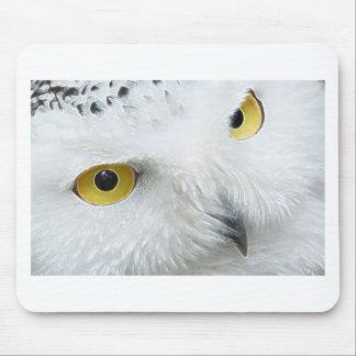 SNOWY OWL EYES MOUSEPAD