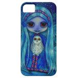 Snowy Owl Fairy in Winter iPhone 5 Case
