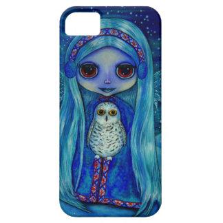 Snowy Owl Fairy in Winter iPhone SE/5/5s Case