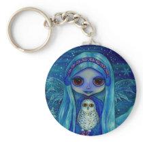 Snowy Owl Fairy Keychain