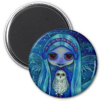 Snowy Owl Fairy Magnet