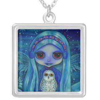Snowy Owl Fairy Necklace