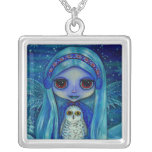 Snowy Owl Fairy Necklace