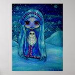 Snowy Owl Fairy Poster