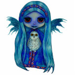 "Snowy Owl Fairy Sculpture<br><div class=""desc"">A winter fairy &amp; her snowy owl friend</div>"