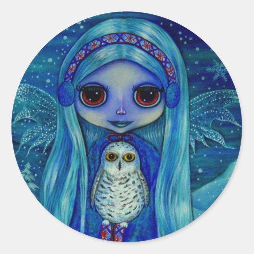 Snowy Owl Fairy Sticker