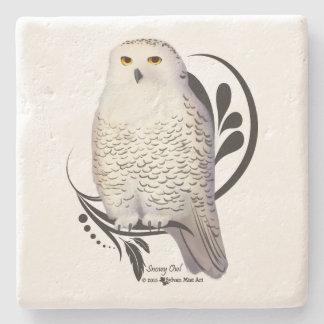 Snowy Owl Stone Coaster