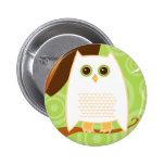 Snowy Owl Green Button