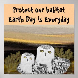 Snowy Owl Habitat Poster