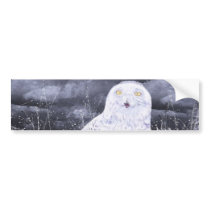 Snowy Owl : Hand Painted By c09MarySylviaHines Bumper Sticker