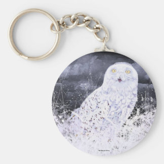 Snowy Owl : Hand Painted By c09MarySylviaHines Keychain