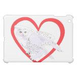 Snowy Owl Heart Case For The iPad Mini