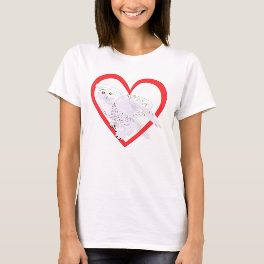 Snowy Owl Heart T-Shirt