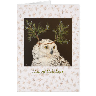 Snowy Owl holiday card
