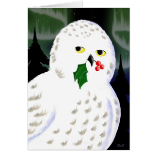 Snowy Owl Holiday Greeting Card