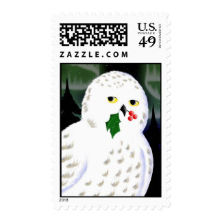 Snowy Owl Holiday Postage