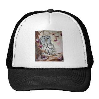 Snowy Owl in a Tree Trucker Hats