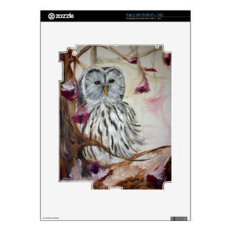 Snowy Owl in a Tree Decal For iPad 2