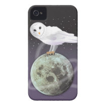 Snowy owl in the moonlight Case-Mate iPhone 4 case