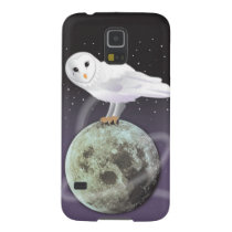 Snowy owl in the moonlight galaxy s5 cover