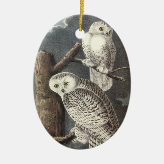 Snowy Owl, John Audubon Ceramic Ornament