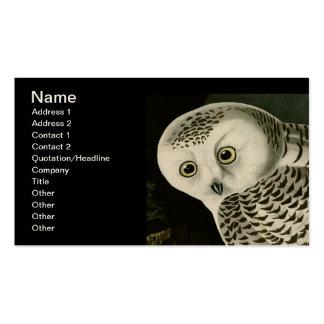 Snowy Owl, John James Audubon Business Card Template